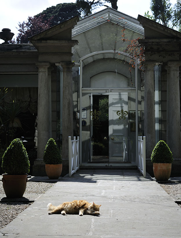 Front Entrance to Marlfield House Gorey