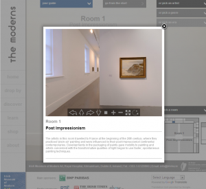 A screenshot of a virtual tour